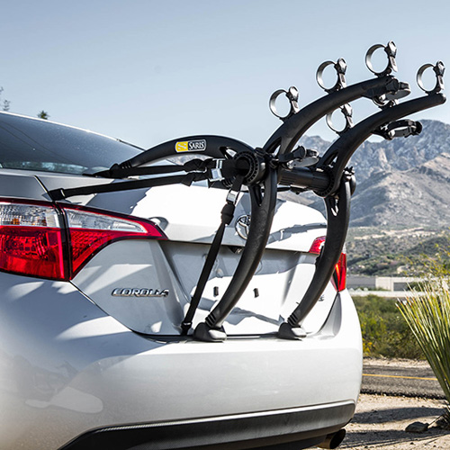 Saris Bones Black 3 Bike 801BL Car Trunk Mount Bicycle Racks