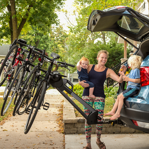 Saris Glide EX 5 Bike Tilt Away Hitch Mounted Bicycle Rack Carrier