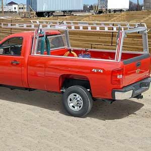 System One Aluminum Pickup Truck Racks for Ladders, Utility, Work and Construction