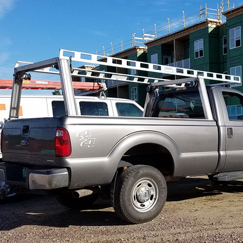 System One I.T.S. Contractor Rig Pickup Truck Ladder, Utility Racks
