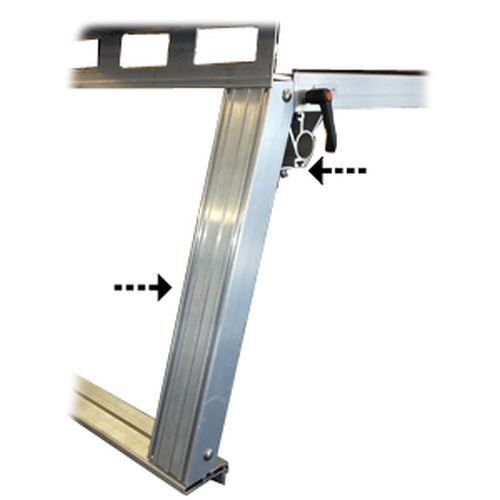 System One l24h Pickup Truck Rack Heavy Duty 24 Truss Legs for Utility and Contractor Rigs