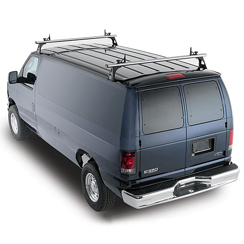 Thule TracRac TracVan Double 29055xt Aluminum 2 Bar Van Ladder Racks