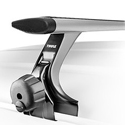 Thule 300r Rapid Rain Gutter Complete Car Roof Rack with Silver AeroBlades