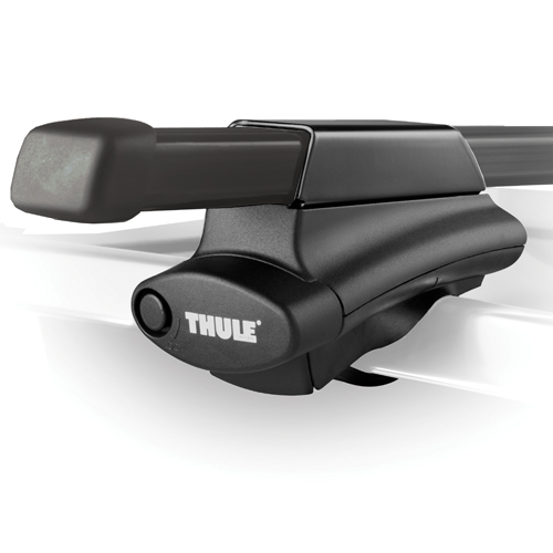 Thule 45050 Crossroad Complete Raised Railing Roof Rack with 50 Load Bars and Locks