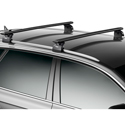 Thule 460rc Complete Rapid Podium Car Roof Rack with Black AeroBlade Crossbars