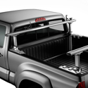 Thule Xsporter Pro 500xt Height Adjustable Aluminum Pickup Truck Bed Racks with Load Stops, Silver