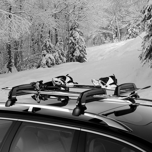 Thule SnowCat 5401 Ski Snowboard Racks for Raised Side Rails