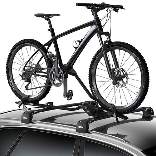 Thule 598004 ProRide XT Upright Bicycle Carrier for Car Roof Racks