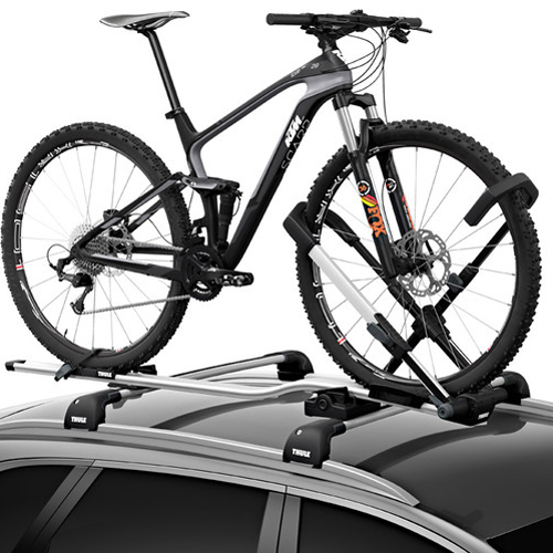 Thule UpRide 599000 Upright Bicycle Rack Carrier for Car Roof Racks