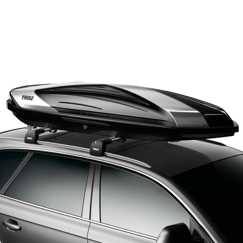 Thule Hyper 612 Premium Black and Silver High Gloss Cargo Box for Car Roof Racks