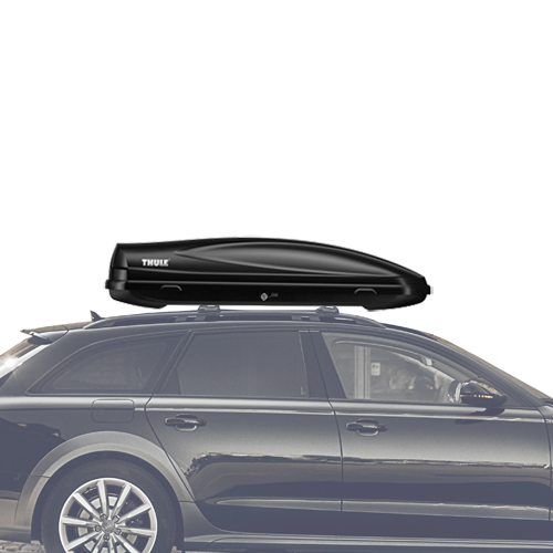 Thule 624 Force M Medium Black Cargo Box for Car Roof Racks