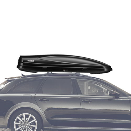 Thule Force XL Extra Large Black Cargo Box 625 for Car Roof Racks