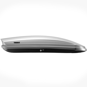 Thule 634s Sonic L Large Silver High Gloss Cargo Box for Car Roof Racks