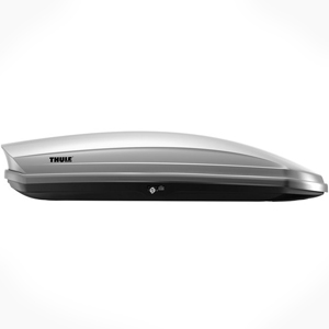 Thule 635s Sonic XL Extra Large Silver High Gloss Cargo Box for Car Roof Racks