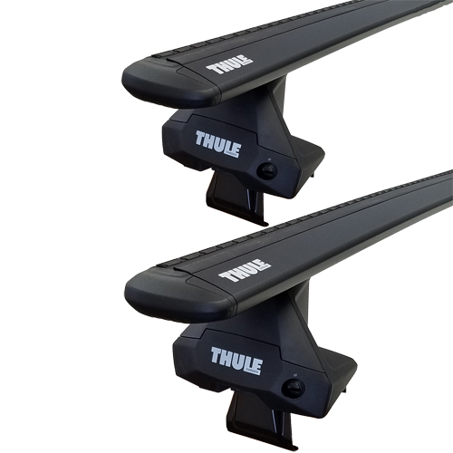 Thule Volkswagen Golf 5dr Hatchback 2006 - 2009 Complete Evo Clamp Roof Rack with Black WingBars