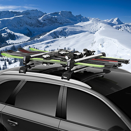 Thule SnowPack Extender 7325 Pull-out 6 Pair Ski Racks, 4 Snowboard Carriers