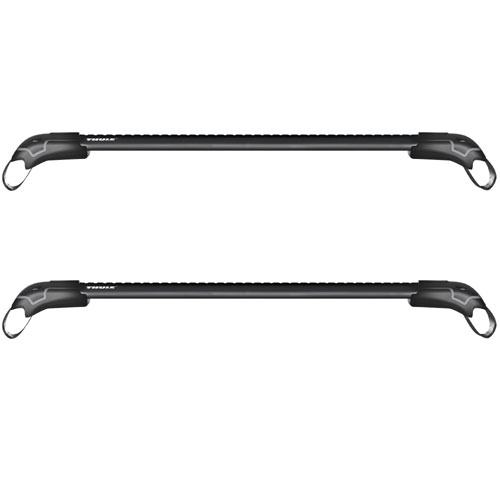 Thule AeroBlade Edge Complete Black 2 Bar Roof Rack for Raised Railings 7501b 7502b 7503b 7504b