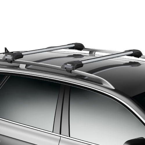 Thule 7501234c AeroBlade Edge Complete 2 Bar Roof Rack for Raised Railings