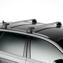 Thule 760123c AeroBlade Edge 2 Bar Fix Point and Flush Rail Mount Complete Car Rack and Fit Kit