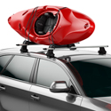 Thule 838 Hull-a-port Aero Fold-down Kayak Carrier for Roof Racks