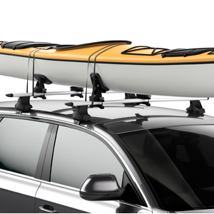 Thule 896 DockGlide Kayak Saddles Kayak Carriers for Car Roof Racks