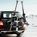 Thule Tram 9033 Ski Racks Snowboard Carriers for Trailer Hitch Receiver Bike Racks