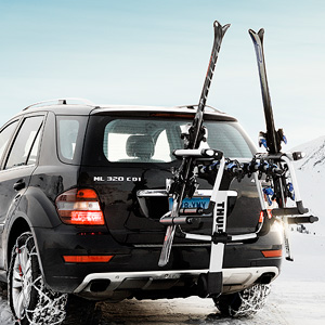 Thule 9033 Tram Ski Racks Snowboard Carriers for Trailer Hitch Receiver Bike Racks