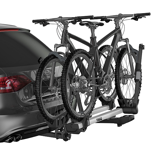 Thule T2 Pro XT 2 Bike 9034xts Platform Style Hitch Bicycle Rack for 2 Receivers, Silver