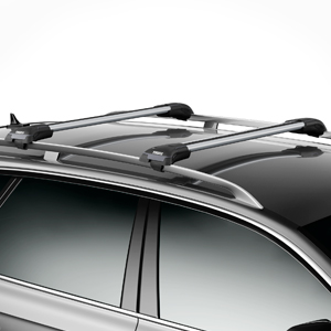 Thule 7501 7502 7503 7504 AeroBlade Edge Raised Railing Car Roof Racks, Single Bar