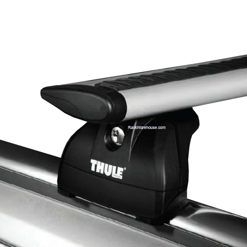 Thule Audi A4 Allroad Wagon with Raised Rails 2009 - 2012 Complete 460r Rapid Podium AeroBlade Roof Rack