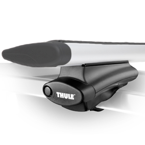 Thule Audi A4 Allroad Wagon with Raised Rails 2013 - 2015 Complete 450r Rapid Crossroad AeroBlade Roof Rack