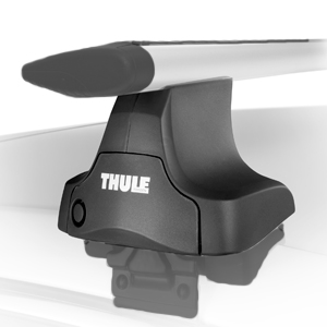 Thule Audi Quattro 100 Wagon with Raised Rails 2002 - 2008 Complete 480r Rapid Traverse AeroBlade Roof Rack