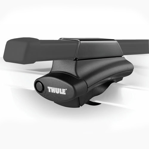 Thule BMW X3 with Raised Rails 2004-2010 Thule 450 Crossroad Roof Rack