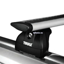 Thule BMW X5 with Flush Side Rails 2007 - 2013 Complete 460r Rapid Podium AeroBlade Roof Rack