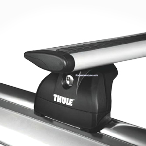 Thule Mitsubishi Outlander Sport with Flush Rails 2011 - 2014 Complete 460r Rapid Podium AeroBlade Roof Rack