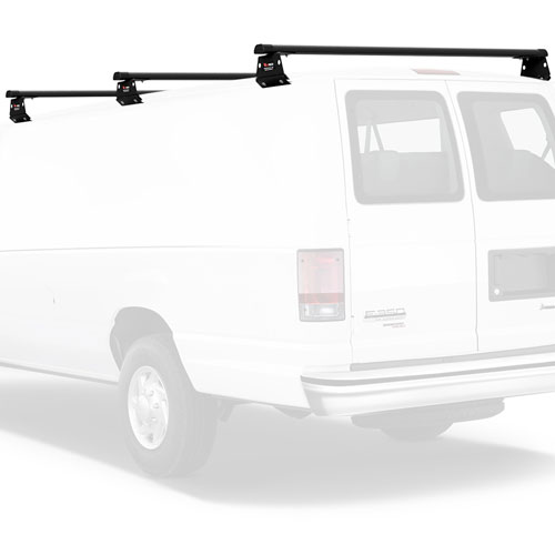 Vantech H3 Aluminum Aero 3 Bar Van Utility Ladder Rack with End Caps
