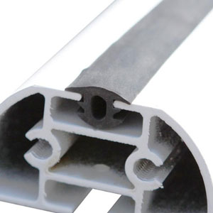 Vantech Rubber Bar Guards for Extruded Aluminum Crossbars