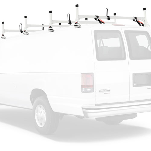 Vantech Aluminum 4 Bar Utility Ladder Van Rack