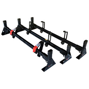 Vantech Sprinter Low Top Van 2007+ Aluminum 3 Bar Low Profile Utility Ladder Rack H2642