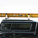 Vantech H1 Aluminum 63 inch 2 Bar Pick-Up Truck Cap Rack System