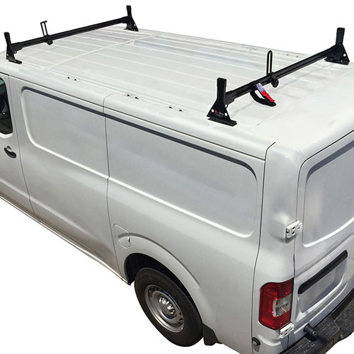 Vantech H1302 Nissan NV Steel 2 Bar Utility Ladder Van Racks