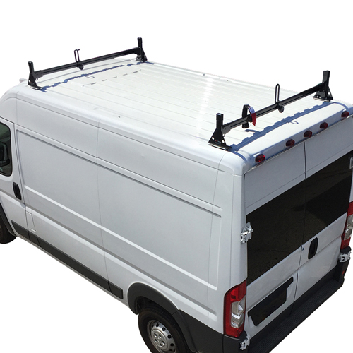 Vantech Dodge Ram ProMaster Van 2013+ Steel 2 Bar Utility Ladder Rack