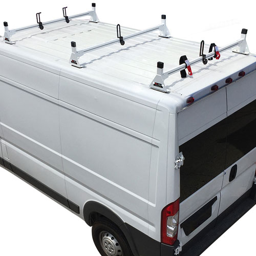 Vantech Dodge Ram ProMaster Van 2013+ Steel 3 Bar Utility Ladder Rack