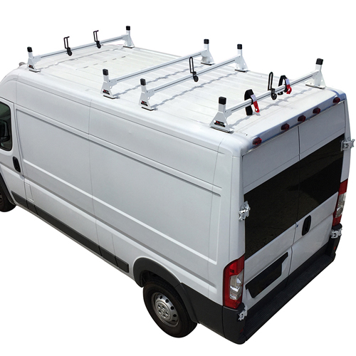 Vantech Dodge Ram ProMaster Van 2013+ Steel 4 Bar Utility Ladder Rack