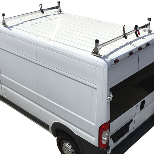 Vantech Dodge Ram ProMaster Van 2013+ Stainless Steel 2 Bar Utility Ladder Racks H1362