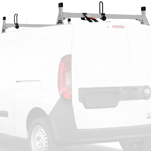 Vantech Dodge Ram ProMaster City Van 2015+ Stainless Steel 2 Bar Utility Ladder Racks H1367