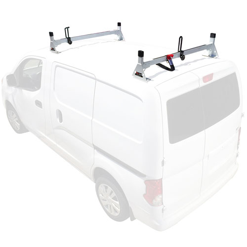 Vantech Chevy City Express Van 2015+ Steel 2 Bar Utility Ladder Rack