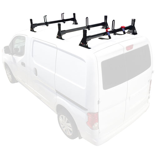 Vantech Chevy City Express Van 2015+ Steel 3 Bar Utility Ladder Rack