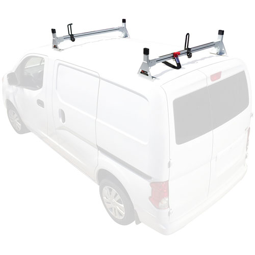 Vantech Chevy City Express 2015+ Aluminum 2 Bar Utility Ladder Van Racks H1616