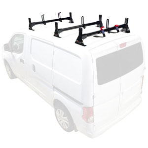 Vantech Chevy City Express 2015+ Aluminum 3 Bar Utility Ladder Van Racks H1617